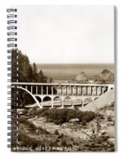 Cape Creek Bridge And Heceta Oregon Head Lighthouse  Circa1933 Spiral Notebook