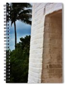 cape Florida light door Spiral Notebook