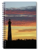Cape Hatteras Lighthouse At Sunset Spiral Notebook