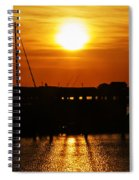 Cape May Harbor At Sunrise Spiral Notebook