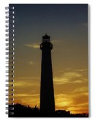 Cape May Lighthouse At Sunset Spiral Notebook