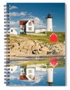 Cape Neddick Light  Reflections Spiral Notebook
