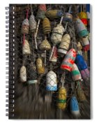 Cape Neddick Lobster Buoys Spiral Notebook