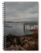 Cape Porpoise Fog Rolls In Spiral Notebook