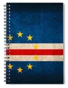 Cape Verde Flag Vintage Distressed Finish Spiral Notebook