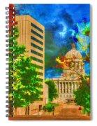 Capital - Jefferson City Missouri - Painting Spiral Notebook