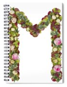 Capital Letter M Spiral Notebook