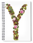 Capital Letter Y Spiral Notebook