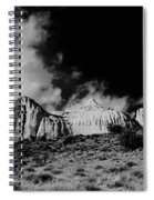 Capital Reef National Park In Black And White  Spiral Notebook