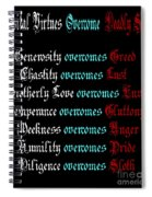 Capital Virtues Overcome Deadly Sins Spiral Notebook