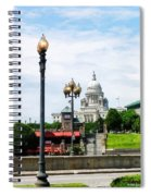 Capitol Building Seen From Waterplace Park Spiral Notebook