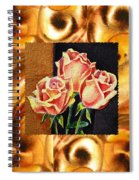 Cappuccino Abstract Collage French Roses Spiral Notebook