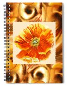 Cappuccino Abstract Collage Poppy Spiral Notebook