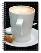 Cappuccino With An Amaretti Biscuit Spiral Notebook