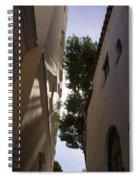 Capri - The Mediterranean Sun Painting Playful Shadows On Facades Spiral Notebook