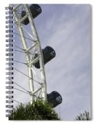 Capsules And Structure Of The Singapore Flyer Along With The Spokes Spiral Notebook