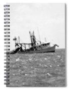 Capt. Jamie - Shrimp Boat - Bw 01 Spiral Notebook