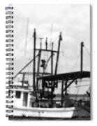 Capt. Jamie - Shrimp Boat - Bw 02 Spiral Notebook