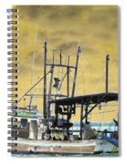 Capt. Jamie - Shrimp Boat - Photopower 01 Spiral Notebook