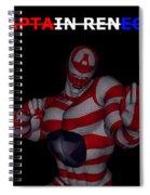 Captain Renegade Super Hero Combating Crime Spiral Notebook