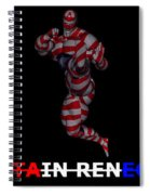 Captain Renegade Super Hero Jumping Karate Kick Spiral Notebook