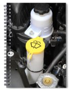 Car Engine Details Spiral Notebook