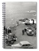 Car Over Edge On Highway One  Big Sur  California    March 27 1947 Spiral Notebook