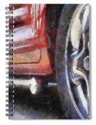 Car Rims 02 Photo Art 02 Spiral Notebook