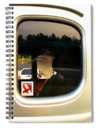 Car Window Reflection Spiral Notebook