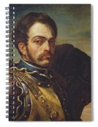 Carabinier Officer With His Horse, C.1814 Oil On Canvas Spiral Notebook
