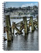 Cardiff Bay Old Jetty Supports Spiral Notebook