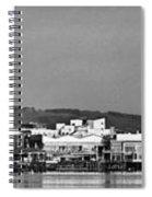 Cardiff Bay Panorama 2 Mono Spiral Notebook