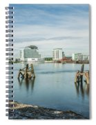 Cardiff Bay Towards St Davids Hotel Long Exposure Spiral Notebook