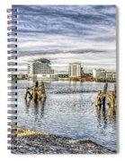 Cardiff Bay Towards St Davids Hotel Spiral Notebook