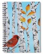 Cardinals Among The Birch-d Spiral Notebook