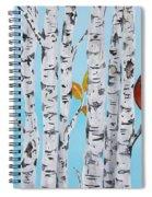 Cardinals Among The Birch-e Spiral Notebook