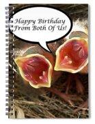 Cardinals Birthday Card Spiral Notebook