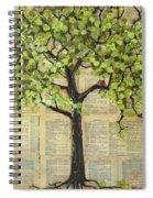 Cardinals In A Tree Spiral Notebook