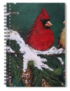 Cardinals In The Snow Spiral Notebook