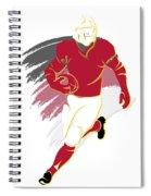 Cardinals Shadow Player2 Spiral Notebook
