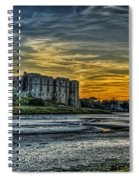 Carew Castle Sunset 3 Spiral Notebook