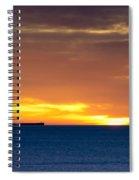 Cargo Ship On Horizon At Dawn Spiral Notebook
