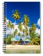 Caribbean Beach Shack Spiral Notebook
