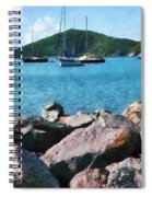 Caribbean - Rocky Shore St. Thomas Spiral Notebook