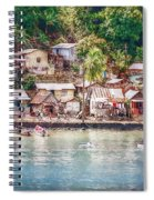 Caribbean Village Spiral Notebook