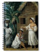 Caribbean Women In Front Of A Hut Spiral Notebook