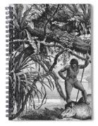 Caripuna Indians With Tapir, From The Amazon And Madeira Rivers, By Franz Keller, 1874 Engraving Spiral Notebook