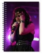 Carly In Concert Spiral Notebook