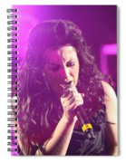 Carly On Stage Spiral Notebook