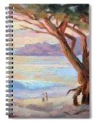 Carmel Beach Winter Sunset Spiral Notebook